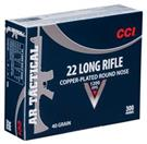 CCI AMMO Ammunition 22LR AR TACTICAL